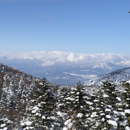 Shiga Kogen large ski resort in Nagano