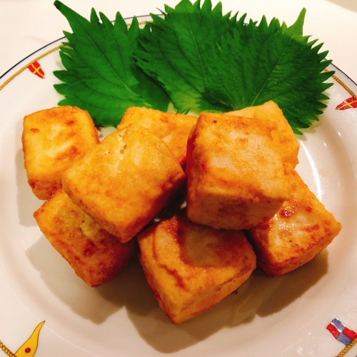 Agedashi Dofu- fried tofu-揚げ出し豆腐